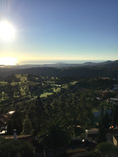 View from Villa Bandama Golf Hotel