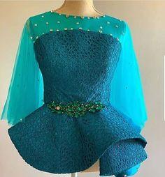 African Fashion Ankara, Latest African Fashion Dresses, African Dresses For Women, African Print Fashion, African Attire, Lace Dress Styles, Blouse Styles, Blouse Designs, African Lace Styles