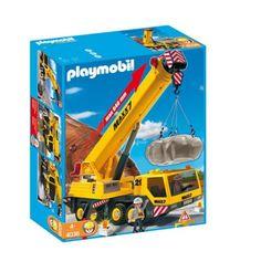 Playmobil - 4036 - Jeu de construction - Grue mobile géante Playmobil http://www.amazon.fr/dp/B001RHAF3M/ref=cm_sw_r_pi_dp_a5mrvb0K8XYHT