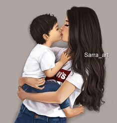 A mother and son- A bond like no other Mother Daughter Art, Mother Art, Mother And Child, Mommy And Son, Mom Son, Mom And Baby, Sarra Art, Girly M, Mothers Love