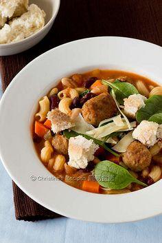 意式雜菜牛肉丸子湯【簡易營養湯】Minestrone Soup