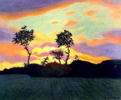 Félix Vallotton - Landscape at sunset (1919)