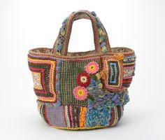 crochet knit purse