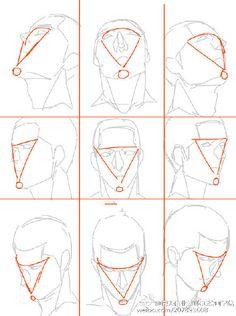 Face angles tips angles Human Figure Drawing, Figure Drawing Reference, Art Reference Poses, Drawing The Human Head, Anatomy Sketches, Anatomy Art, Anatomy Drawing, Head Anatomy, Drawing Heads