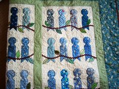 This quilt reminds me of spring.