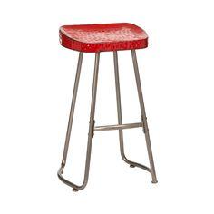 Artisan Stool, Red Metal