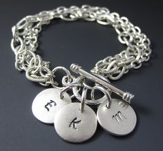 Sterling Silver 7 4.5mm Charm Bracelet With Attached 3D Two Fried Eggs In Cooking Pan Skillet Charm