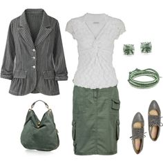 Green & Gray, created by kscloset on Polyvore