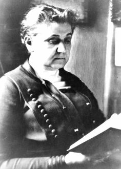 1920- For thirty years, Jane Addams has radically campaigned for an eight-hour work day for women, equal justice for blacks & immigrants, juvenile rights, pacifism, research into the causes of crime & poverty, safe living conditions in tenements & safe working conditions in factories, and women's suffrage.  This year, she is a founding member of the American Civil LIberties Union, and in 1931 she will become the first American woman to win a Nobel Prize.