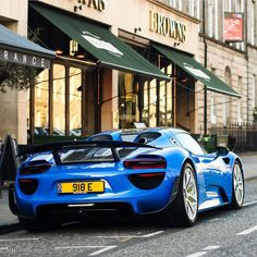 Porsche 918 Spider painted in paint to sample Arrow Blue w/ Weissach Package  Photo taken by: @aimerydutheil_photography on Instagram (@porsche918e on Instagram is the owner of the car)