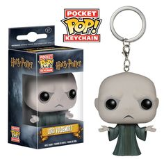 Whether you're going through the Chamber of Secrets or visiting Diagon Alley, make sure you bring your favorite wizards with you! The Harry Potter Voldemort Pocket Pop! Vinyl Figure Key Chain features