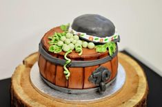 wine barrel - cake by MilenaSP
