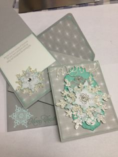 Envelope punch board Festive flurry Cards for gift box