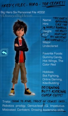 Lore - Fred's files: Hiro.