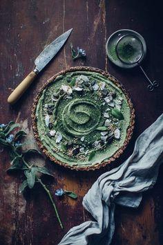 Matcha coconut tart #healthy #dessert #recipe #raw #vegan #matcha #coconut #tart #cake #cheesecake