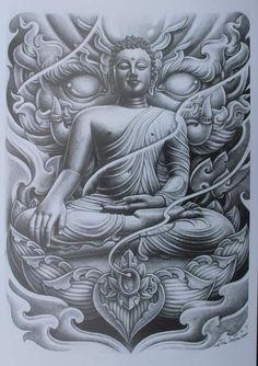 Chicano Tattoos, Chicano Art, Body Art Tattoos, Sleeve Tattoos, Buddha Tattoo Design, Buddha Tattoos, Bird Drawings, Tattoo Drawings, Epic Tattoo