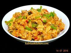 cheesy egg bhurji quick easy recipe by kabitaskitchen