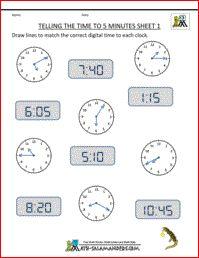 Telling Time Worksheets - O'clock, Half and Quarter Sheet 4 | fun ...