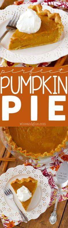 This Perfect Pumpkin Pie is the BEST and it gets a little help from the blender so making it is really simple!