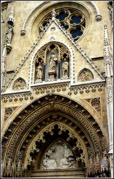Chatedral Zagreb - Croatia Zagreb Croatia, Kirchen, Slovenia, Barcelona Cathedral, Building, Travel, Photography, Viajes, Photograph