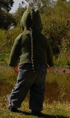 Crocodile Hooded Cardigan - Organic Cotton