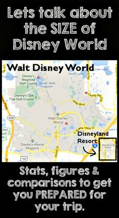 Just how big is Disney World - Stats figures and comparisons to get you prepared before your trip