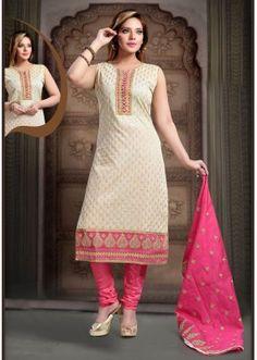 Party Wear Readymade Beige Art Silk Salwar Suit - 77808