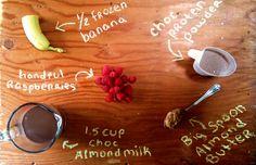 Healthy Indulgence: Chocolate Raspbanana Protein Smoothie!