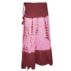 Mogul Womens Wrap Skirts Tie-Dye Pink Maroon Sequin Work Wrap Around Skirt    https://www.walmart.com/search/?cat_id=0&page=2&po=1&query=mogul+rayon+wrap+skirts+#searchProductResult