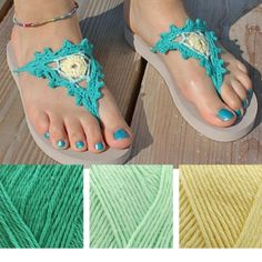 Crochet flip flops, free crochet pattern by Scheepjes | Happy in Red