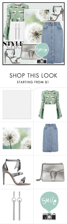 """""""Untitled #671"""" by prilvcm ❤ liked on Polyvore featuring ADRIANA DEGREAS, M.i.h Jeans, Alexandre Birman, Gucci, Isabel Marant and Seventy Tree"""