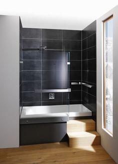 rectangular bath-tub shower combination STAIRWAY Repabad
