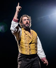 Josh Groban as Pierre in in Natasha, Pierre and the Great Comet of 1812 at the Imperial Theatre.