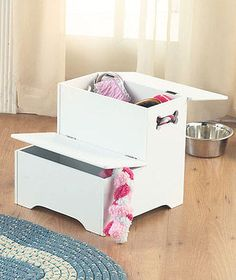White Wooden Pet Dog/Cat Steps W/Storage For Toys Treats Access To Sofa & Bed in Pet Supplies | eBay