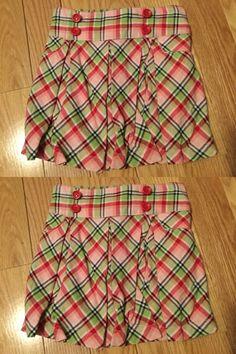 6aed2fb6f0 Skorts 152553: Nwt Gymboree Cherry Cute Girls Sz5 Plaid Pleated Skirt Built  In Short New