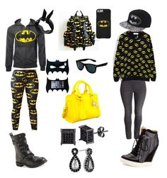 Strictly Batman by gracie-sophia on Polyvore featuring polyvore, fashion, style, H&M, L.A.M.B., Aéropostale, Alexander McQueen, Lord & Taylor, Boohoo, Retrò and clothing