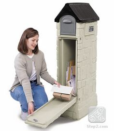 MailMaster® StoreMore Mailbox | Mailboxes | by Step2 for $99.99  [Add a touch of class to your curb and a dose of convenience to your life with the StoreMore Mailbox. This unique storage mailbox can hold as much as two weeks of mail and small packages, and looks great in the process. Made in USA.]