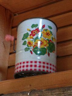 Vintage tin flour sifter.