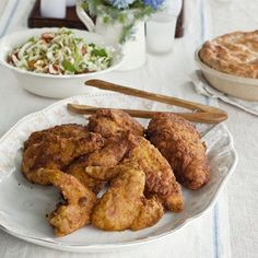 The fried chicken owes its spice to a buttermilk brine with garam masala, coriander, ginger, and cayenne. Recipe: Buttermilk-Brined Fried Chicken Masala