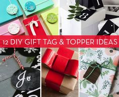 Roundup: 12 DIY Gift Topper and Gift Tag Projects » Curbly | DIY Design Community