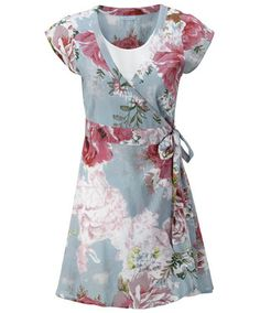 54fe75b7680 Joe Browns Watercolour Wrap Tunic - a splash of summer garden prints