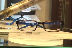 Treat your eyes to some color.  Sama frame accented with blue arms.  www.statestreeteye.com