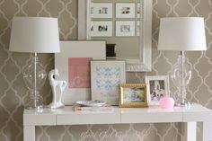 stencil and love that desk!!