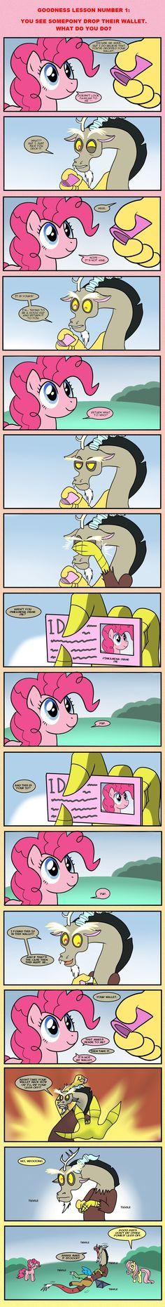 It's not my wallet-pinkie pie- My Little Pony List, My Little Pony Comic, My Little Pony Friendship, Fluttershy, Discord, Mermaid Man, Mlp Comics, Mlp Pony, My Wallet