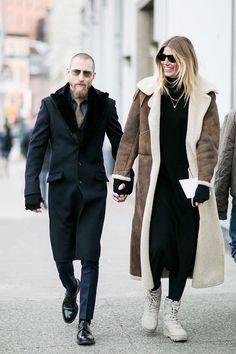 Неделя моды в Нью-Йорке, осень-зима 2016: street style. Часть 1 (фото 6)