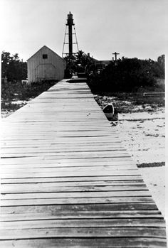 1947 Boardwalk leading to the Sanibel Island Lighthouse   Title  Image Number  N048690    Florida Memory