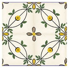 Your place to buy and sell all things handmade Painting Ceramic Tiles, Tile Art, Wall Tiles, Painted Tiles, Cement Tiles, Mosaic Tiles, Ceramic Art, Tile Patterns, Print Patterns