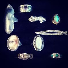 Diverse selection of rings #caronpowerjewellery