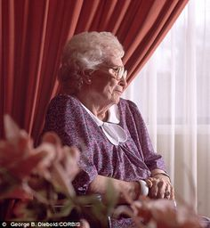 Isolation: A fact of life for many elderly people at Christmas.