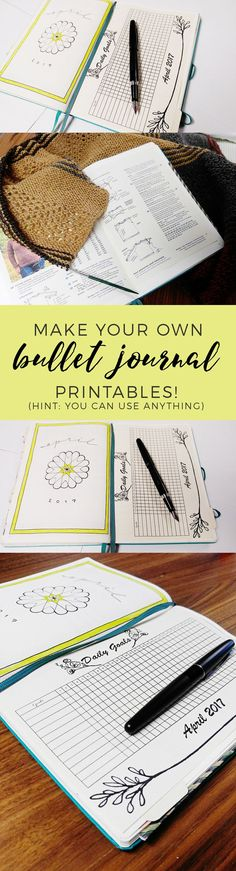 How to Make Your Own Bullet Journal Printables http://productiveandpretty.com/bullet-journal-printables/?utm_campaign=coschedule&utm_source=pinterest&utm_medium=Jen%20%2B%20Liz%20%7C%20Productive%20and%20Pretty&utm_content=How%20to%20Make%20Your%20Own%20Bullet%20Journal%20Printables